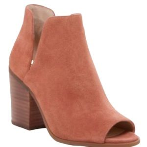 Sole Society Charliece Beown Peep Toe Bootie